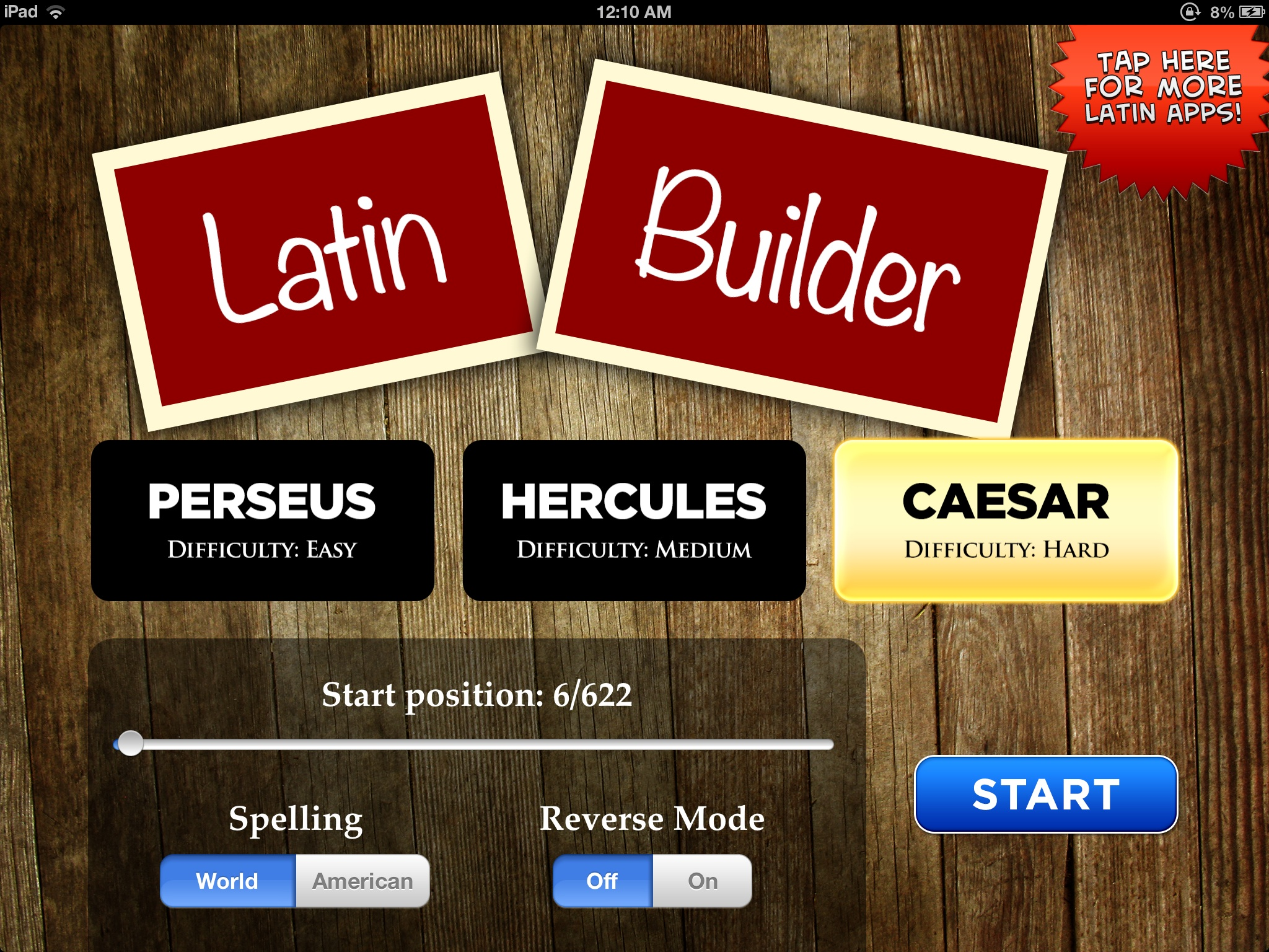 Latin Builder Screenshot