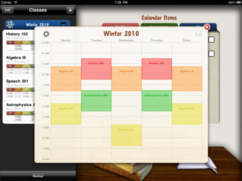 Complete Class Organizer - Student Version Screenshot