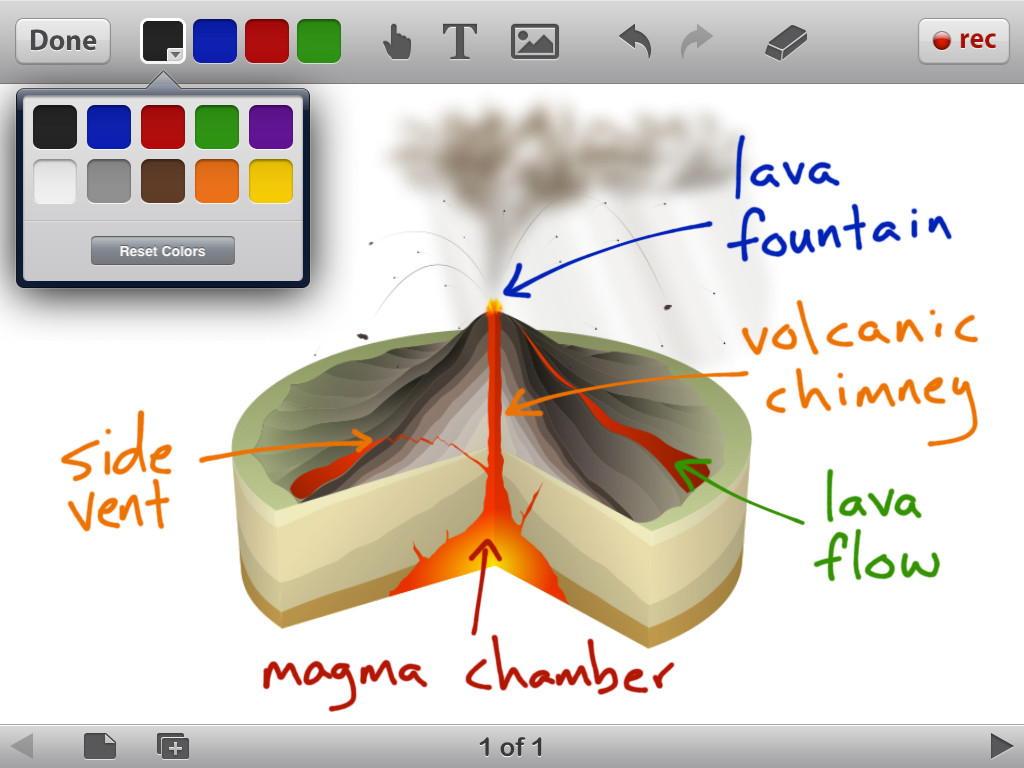 Educreations Interactive Whiteboard Screenshot