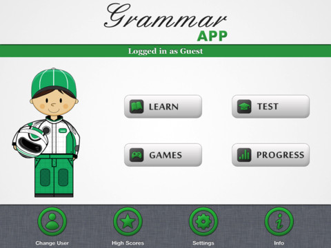 Grammar App HD by Tap To Learn Screenshot
