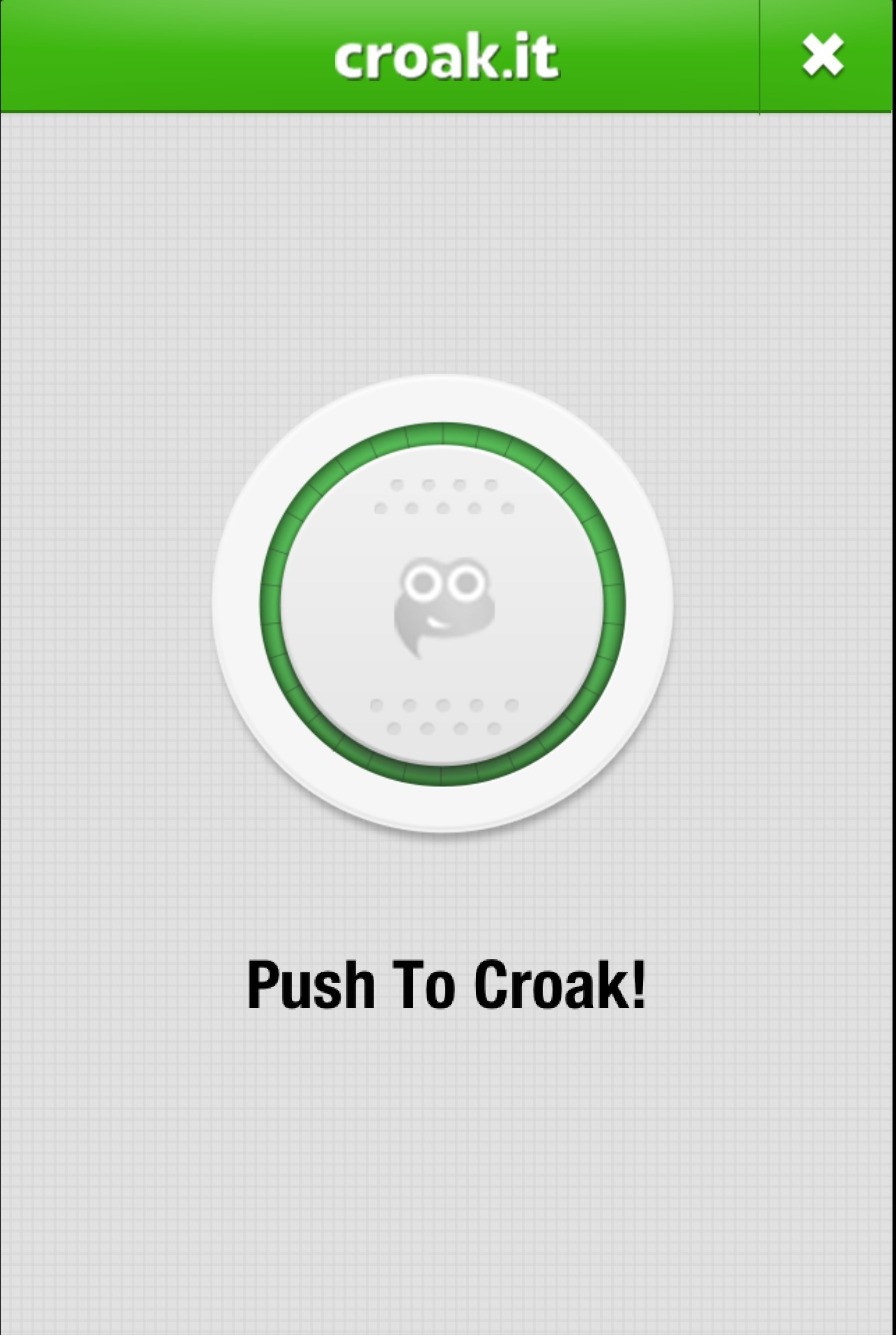 Croak.it! Screenshot