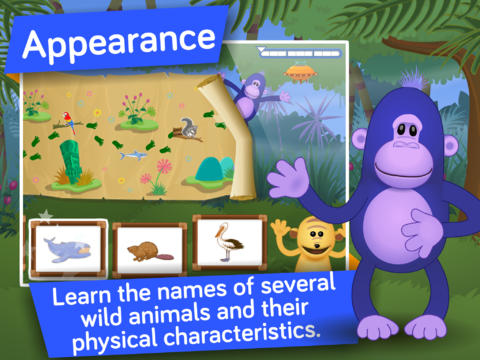 Animals ! Life science educational and learning games for kids in Preschool and Kindergarten by i Learn With Screenshot