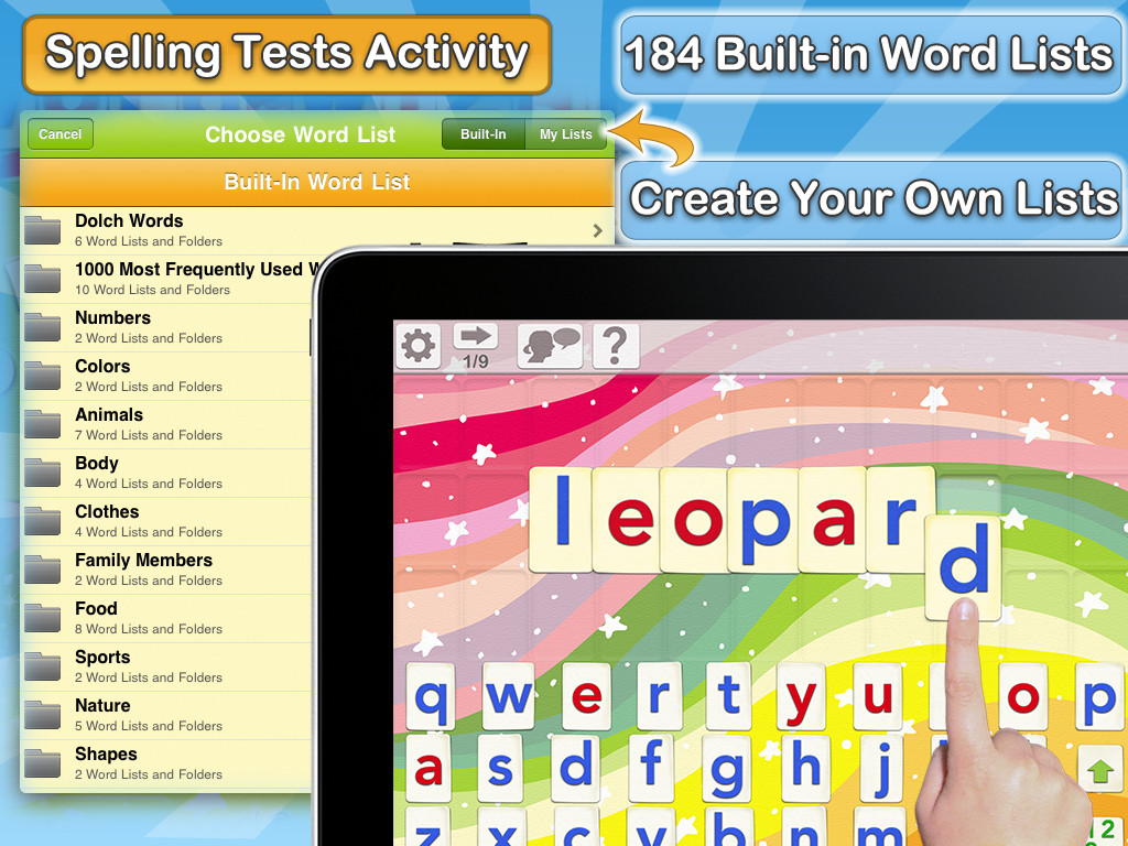 Word Wizard - Kids learn to spell with talking alphabets, spelling tests & fun phonics games Screenshot